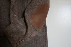 Vintage Mens WFF by Farah Pure Wool Tweed Jacket with Elbow Patches.