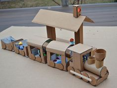 DIY Cardboard Train - this is so cool, we'll be definitely making one of these soon