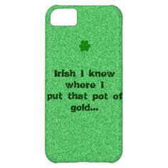 Light Green Specks with Funny Saying IPhone Case