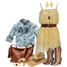 Summer Cowgirl, created by angela-windsor on Polyvore