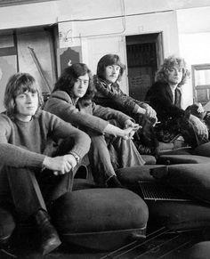 Led Zeppelin at Herb Greene Studio in San Francisco, 1969.
