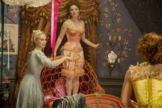 Check out two new Cinderella clips featuring Lily James, Richard Madden and Helena Bonham Carter as well as 25 images from the upcoming Disney film. Cinderella 2015, Cinderella Live Action, Cinderella Movie, Cinderella Carriage, Lily James, Cinderella Stepsisters, Ben Chaplin, Holliday Grainger, Have Courage And Be Kind
