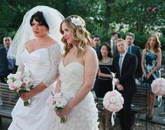 15 Wedding Gowns We'll Never Forget: Dr. Callie Torres & Dr. Arizona Robbins - Grey's Anatomy