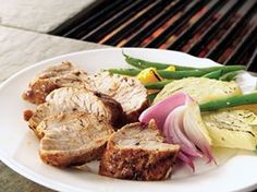 Grilled Lemon-Pepper Pork Tenderloin Recipe from Betty Crocker