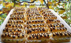 Choux-uri cu crema de ness si ciocolata - Bunătăți din bucătăria Gicuței Waffles, Deserts, Homemade, Cooking, Breakfast, Cakes, Aphrodite, Kitchen, Morning Coffee