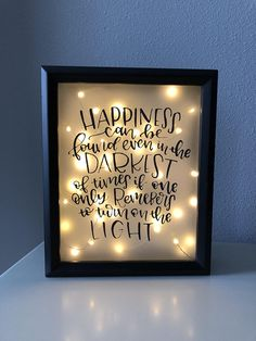 Harry Potter inspired Happiness can be found light up shadow