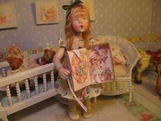 OOAK Dollhouse Miniature Girl Doll * Heather * by Carol McBride 1 Day-List