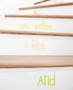 Washi Tape Stair DIY 3