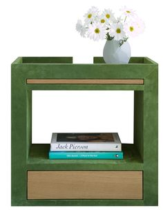 Olin Nightstand  Contemporary, Upholstery  Fabric, Wood, Night Stand by Moises Esquenazi  Associates