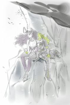 Aww you could kinda see that Blake is holding Yang hand