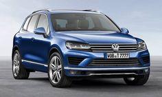#Volkswagen #Touareg. Face avant sportive, avec signature lumineuse à LED lui donnent encore plus de caractère.