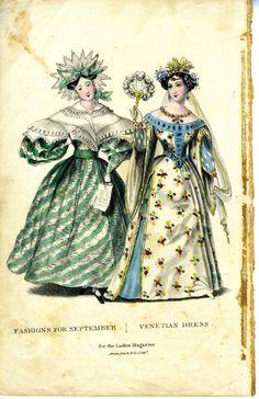 a Venetian costume, 1830s