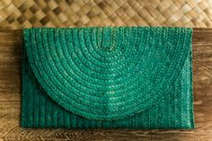 Turquoise Palm Leaf Minaudiere. Orders at Adri@sawo-design.com