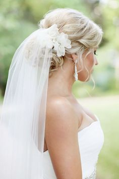 wedding hairstyles with veil gentle updo nicole chatham photography