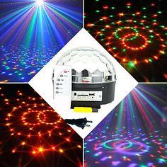 Rgb 6x3W conduit mp3 cristal dj club de pub disco parti boule magique lumière laser d'étape (100-240V) – CAD $ 27.79