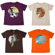 SpeeZees kids' t-shirts: Each tee donates money to support the animal on the shirt