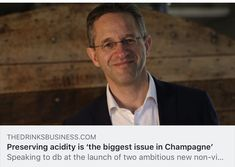 While growers in Champagne have historically struggled to ripen their grapes, the biggest challenge facing the region today is preserving acidity levels, according to one family-owned house. Champagne, Drinks, News, Business, Fictional Characters, Drinking, Beverages, Drink, Store