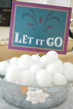 Snowball fight at a Frozen Birthday Party! See more party ideas at CatchMyParty.com!