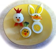 adorable way to dress up hard boiled eggs. they are festive, and make healthy snacking a lot of fun for children.