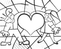 Lds Coloring Pages, Printable Coloring Pages, Coloring Books, 7th Grade Art, Valentines Day Coloring, Arte Country, Graffiti Painting, Funky Art, Arte Pop