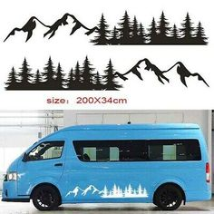 Ford Transit Custom Camper, Custom Campers, Van Stickers, Body Stickers, How To Remodel A Camper, Rv Decals, Toyota Hiace, Rv Interior, Camper Ideas