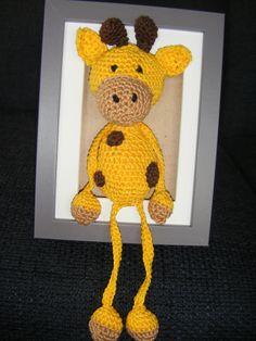 Bungel giraf in 3D lijst