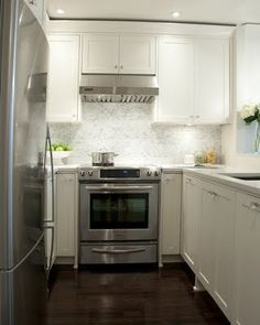 small white kitchen.