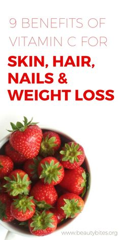 Vitamin C has many benefits for weight loss and healthy skin, hair and nails and it's important we know them! Knowing these I'm more motivated to actually eat vegetables and fruit! | www.beautybites.org