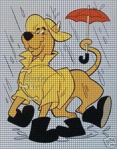 Scooby Doo Graph/Chart Afghan Crochet Pattern