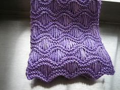 Ravelry: Shimmer Wave Scarf pattern by Kate Hiester