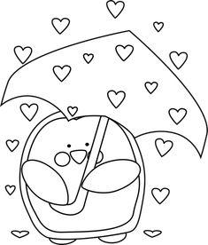Black and White Raining Valentine's Day Hearts