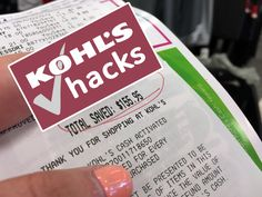 29 Genius (and Accurate!) Kohl's Shopping Hacks Want to expand your extreme couponing into retail? Kohl's is the only store where saving an average of or more is easy when you use Kohl's coupons and Ways To Save Money, Money Tips, Money Saving Tips, Money Savers, Saving Ideas, Mo Money, Shopping Coupons, Shopping Hacks, Store Hacks