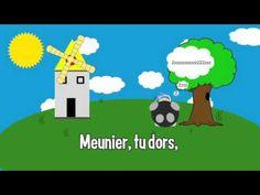 Comptine : Meunier Tu Dors - YouTube