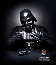 Print Advertising : Duracell :: Darth Vader Print Advertising Campaign Inspiration Duracell :: Darth Vader Advertisement Description Duracell :: Darth Vader Don't forget to share the post, Sharing is love ! Creative Advertising, Print Advertising, Advertising Campaign, Star Wars Film, Star Wars Art, Darth Vader, Geeks, Sabre Laser, Plakat Design