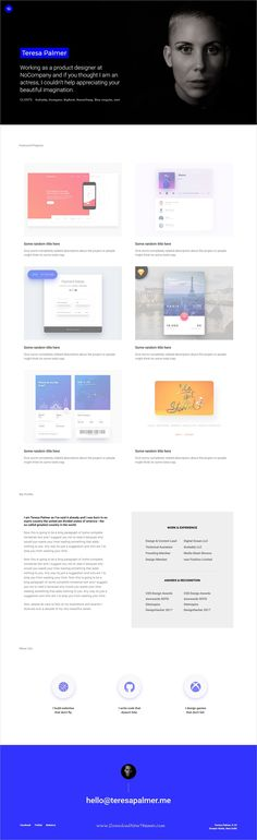 Resumy  Personal Html Template  Ui Ux