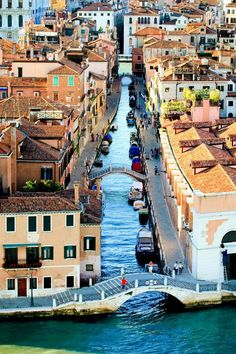 Bird's eye view of Venice, Italy