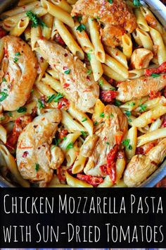 Your Family Will Fall In LOVE with This Recipe  Perfect for The Weekday  DONE in 30 Minutes! Cheesy!!!!! Chicken Mozzarella Pasta with SunDried Tomatoes Recipe