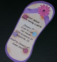 Flip Flop Birthday Party Invitations Set of 10 by Sassadoodle, $18.00