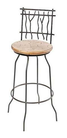 Sassafras Swivel Barstool, 25 in. Prem. Faux Leather in Emu Wheat 205747-OG-69926-O-281287-OG-142857-O-759887
