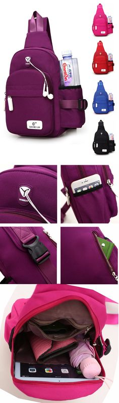$14.68 Women Nylon Daily Crossbody Bag, Waterproof Travel Durable Chest Bag, Shoulder Bag For Women