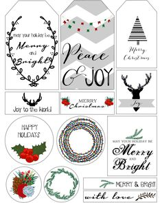 blank christmas gift tag - Google Search