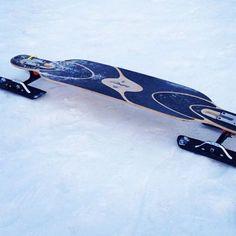 #longboarding, #snowskating