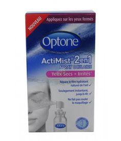 Optone Actimist 2en1 Spray Oculaire Yeux Secs et Irrités 10 ml sur LaSante.net