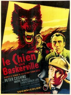 The Hound of the Baskervilles / French one-sheet