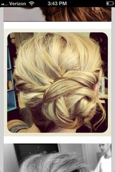 Love this hair color & up-do!