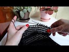 Tunisian Lace Fan Stitch - Free Crochet Pattern - YouTube