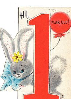Vintage Birthday card Happy Birthday Vintage, Happy Birthday Cards, Birthday Greeting Cards, Birthday Greetings, It's Your Birthday, Card Party, Vintage Greeting Cards, Vintage Holiday, Baby Cards