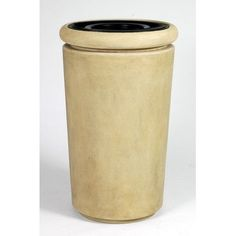 Allied Molded Products Trash and Ash Tuscan 26-Gal Industrial Trash Bin Color: Greige