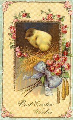 Beautiful Best Easter Wishes postcard