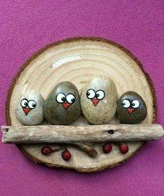 Holz und Steine kombinieren